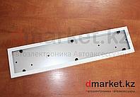 Рамка для номера, металлическая, белая, антивандальная, фото 1