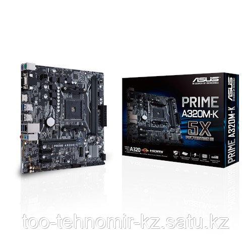 ASUS PRIME A320M-K  AMD AM4 2xDDR4 2666/2400/2133 MHz, 4xSATA 6Gb/s, 1xM.2 Socket 3,