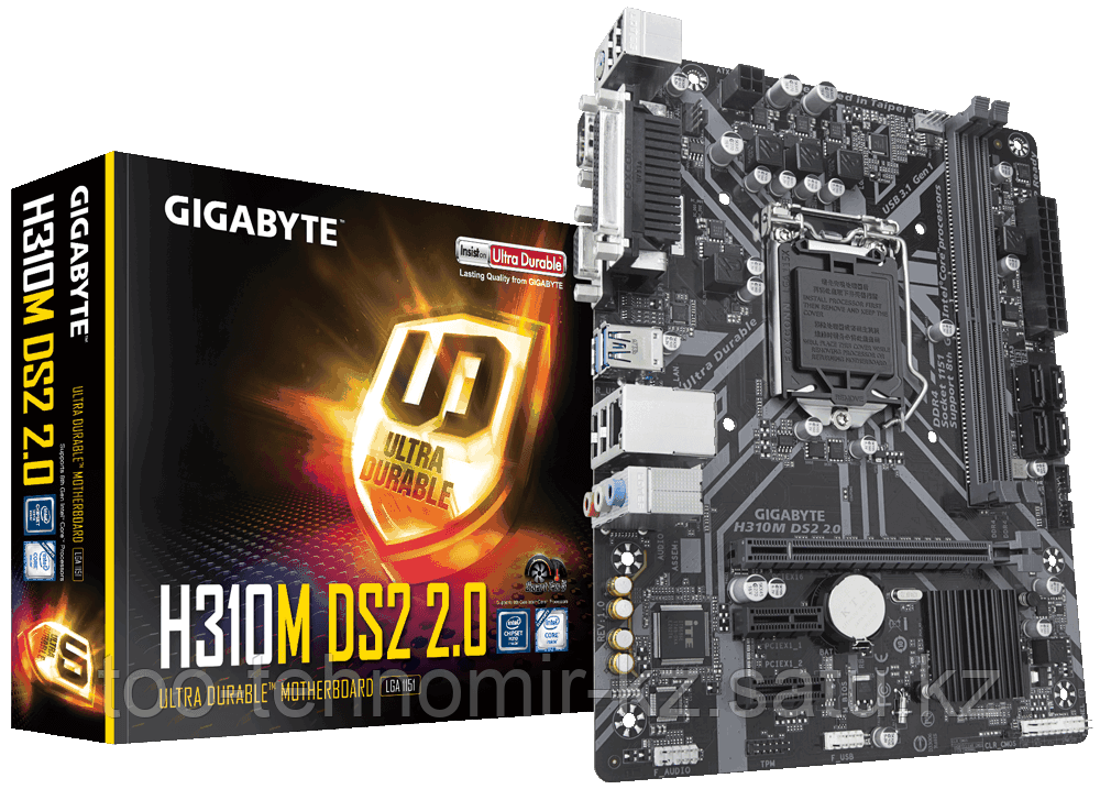 Gigabyte H310M DS2 2.0 Intel H310 LGA1151 2xDDR4 4xSATA3 D-Sub COM LPT mATX