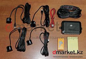 Парктроники черные, 4 датчика, врезные, от 0 до 2.5 метров