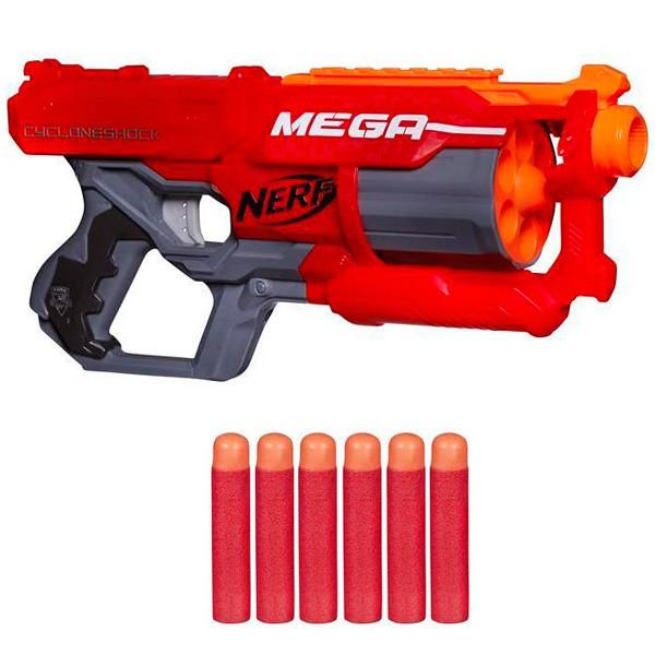 "Hasbro Nerf N-Strike Mega Пистолет Бластер ""Циклон"" (Cyclone)"