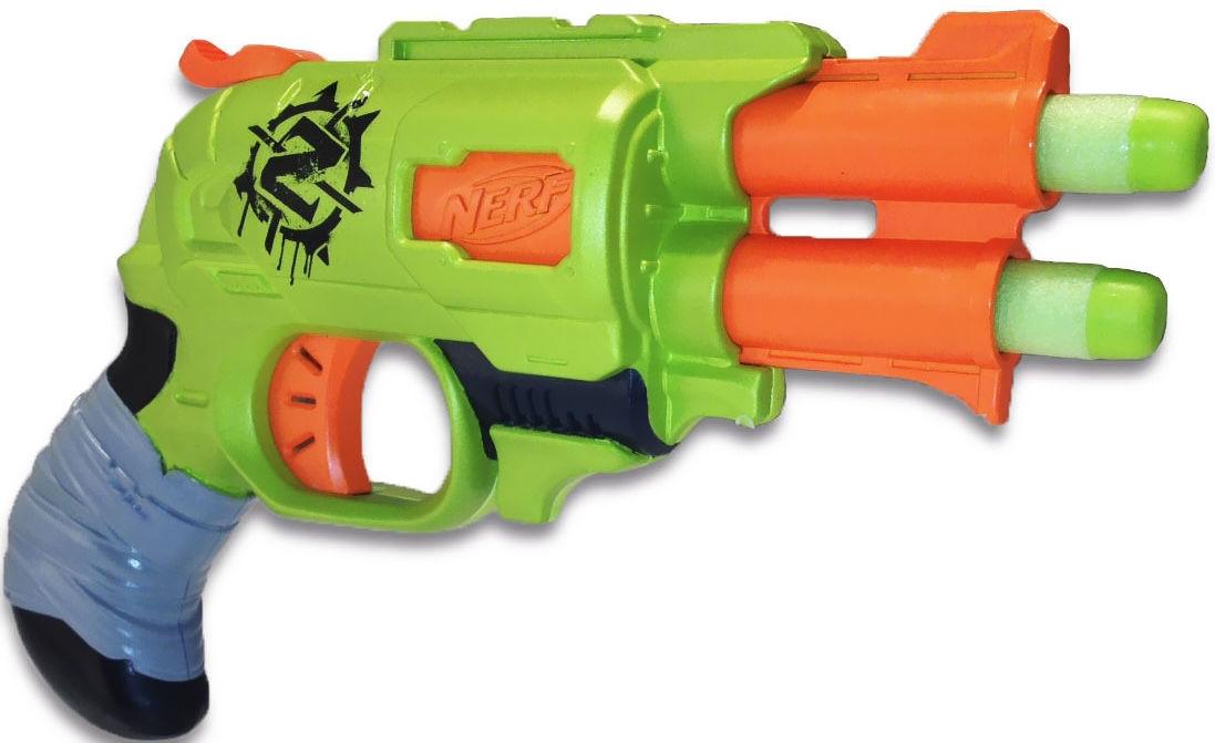"Hasbro Nerf Zombie Strike Пистолет Бластер ""Двойной Удар"" (Doublestrike)"