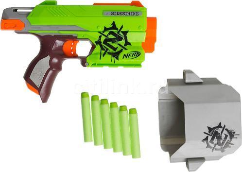 "Hasbro Nerf Zombie Strike Пистолет Бластер ""Сайдерстрайк"" (Sidestrike)"