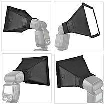 Мини софтбокс для вспышек 15см х 17см Canon, Nikon, Nissin, Yongnuo и др. от Pixco, фото 3