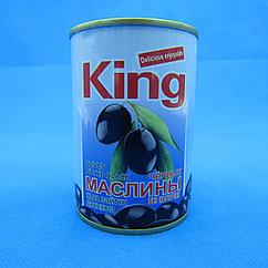 KING/Черные маслины без косточек (280 гр.)