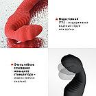 Безремневой Страпон «BLACK & RED BY TOYFA» С Вибрацией, Влагостойкий, 35 СМ, фото 5