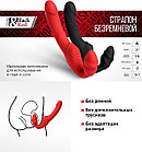 Безремневой Страпон «BLACK & RED BY TOYFA» С Вибрацией, Влагостойкий, 35 СМ, фото 2
