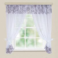 Комплект штор для кухни Глория королевский цветок 275*180