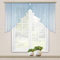 Комплект штор для кухни Дуо 300*120 голубой