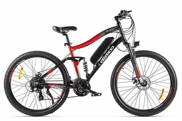 Велогибрид Eltreco FS900 NEW (2020) (Черно-красный)