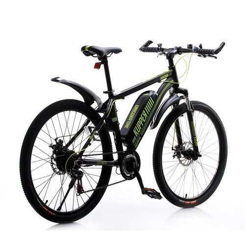 Велогибрид Tsinova Kupper Unicorn с ручкой газа (Черно-зеленый)