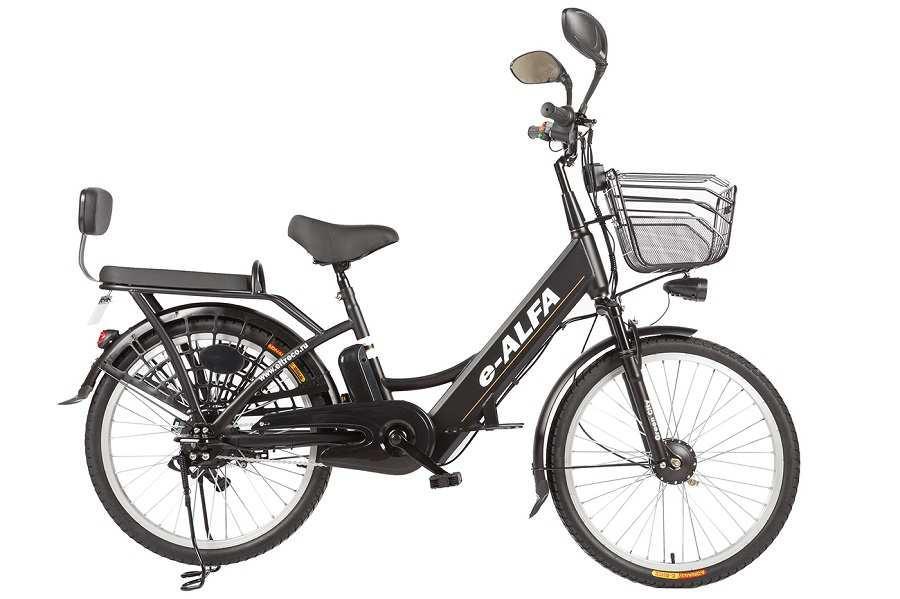 Велогибрид Green City E-Alfa (Черный)