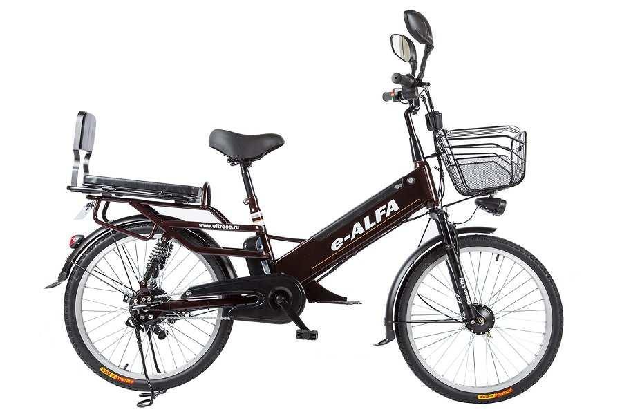 Велогибрид Green City E-Alfa L (Черный)