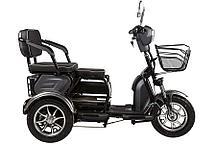 Электроскутер трицикл Green City S2 V2 трансформер (Черный)
