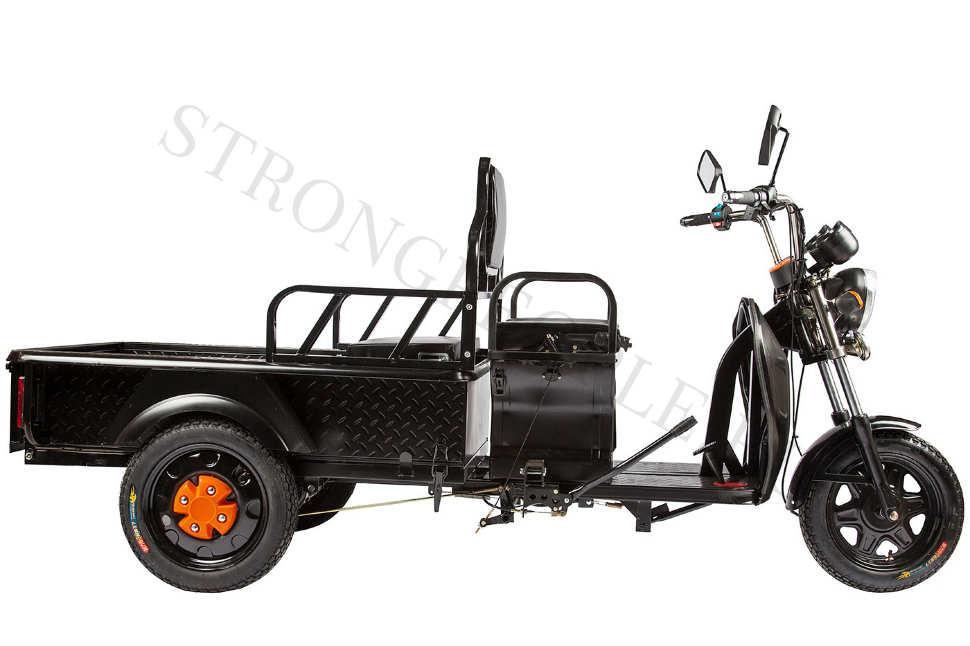 Грузовой электрический трицикл RuTrike D1 1200 60V 900W (Темно-серый)