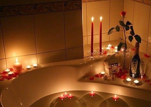 Свечки для ванны 50 шт., в форме сердца, Романтический вечер - фото 3
