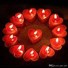 Свечки для ванны 50 шт., в форме сердца, Романтический вечер, фото 2