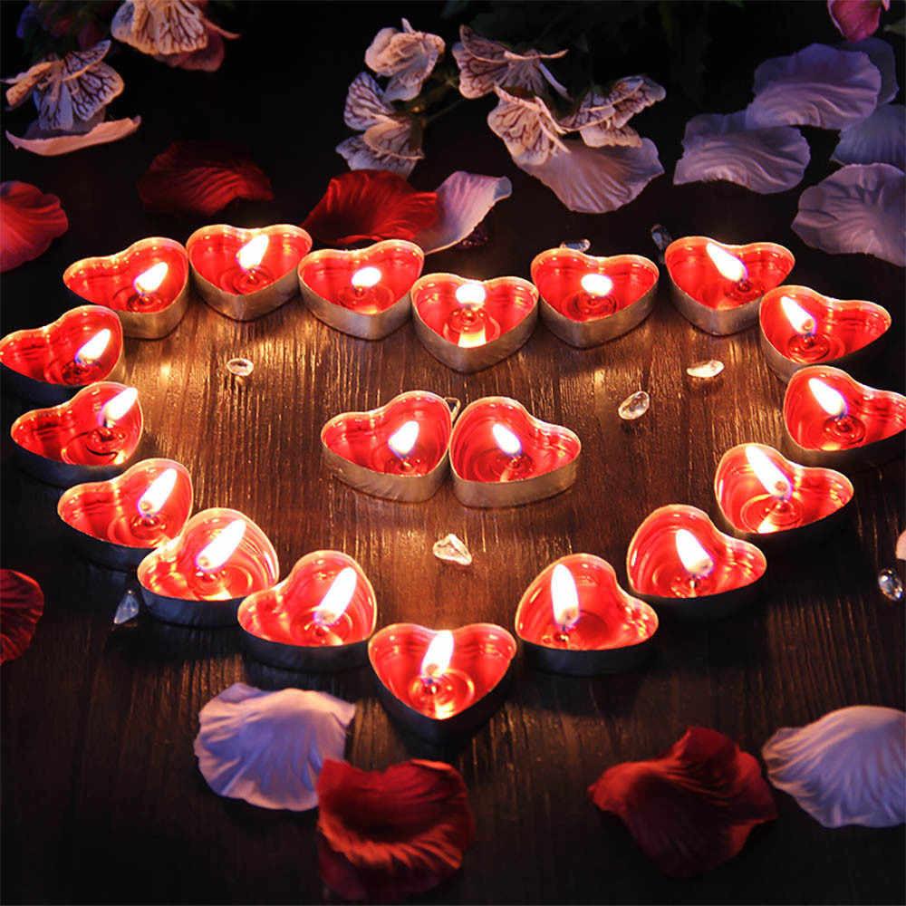 Свечки для ванны 50 шт., в форме сердца, Романтический вечер - фото 7