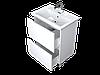 Тумба с раковиной Aris 60 см. напольная (2 ящика). Белый глянец, фото 4