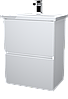Тумба с раковиной Aris 60 см. напольная (2 ящика). Дуб сокраменто, фото 3