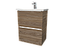 Тумба с раковиной Aris 60 см. подвесная (2 ящика). Дуб сокраменто, фото 5