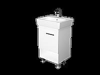 Тумба с раковиной Tera 55 см. напольная (1 дверка). Белый глянец