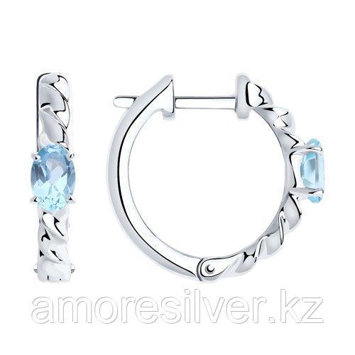 Серьги из серебра с топазами  SOKOLOV 92022281