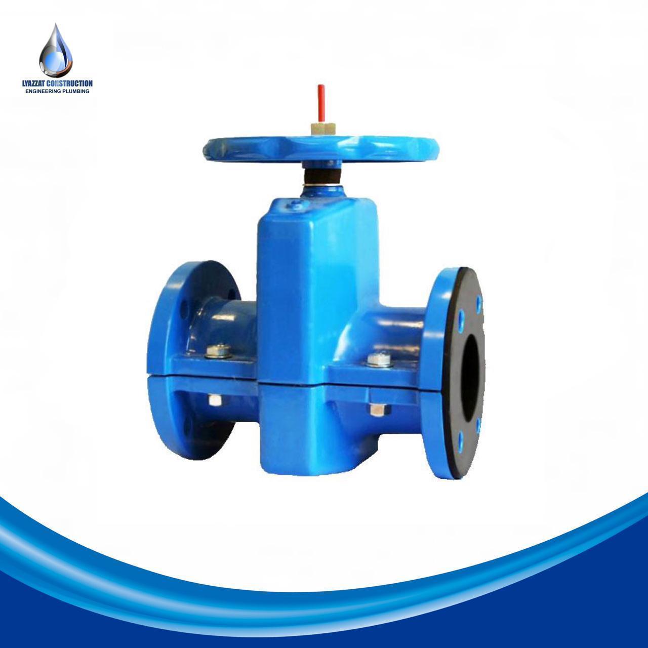 Задвижка шланговая 33а17р (П 98036) DN 200 мм PN 6 кгс/см2