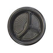 Тарелка d 260мм, 3-секции, чёрная, 500 шт