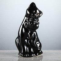 Копилка 'Пара котов', покрытие лак, чёрная, 26 см