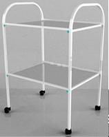 Столик процедурный с 2-мя стеклянными полками (стекло прозрачное) СИ-06
