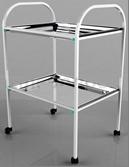 Столик процедурный с 2-мя металлическими поддонами (никелированными) СИ-05