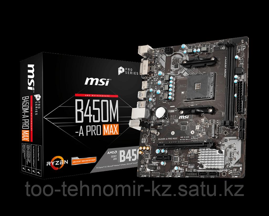 MSI B450M-A PRO MAX AM4 B450 2xDDR4 4xSATA3 1xM.2 DVI HDMI mATX