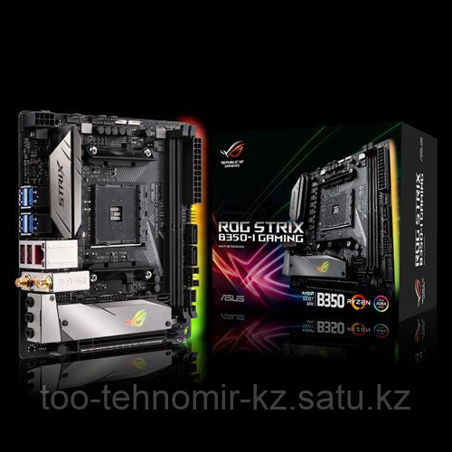 ASUS ROG STRIX B350-I GAMING AMD B350 AM4, 2 xDDR4 2666/2400/2133 MHz, 4 x SATA 6Gb/s port(s) 2xM.2