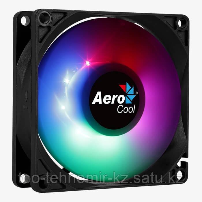 Вентилятор для системного блока 8cm AeroCool Frost 8, FRGB, 1500x10% об.мин, Черный