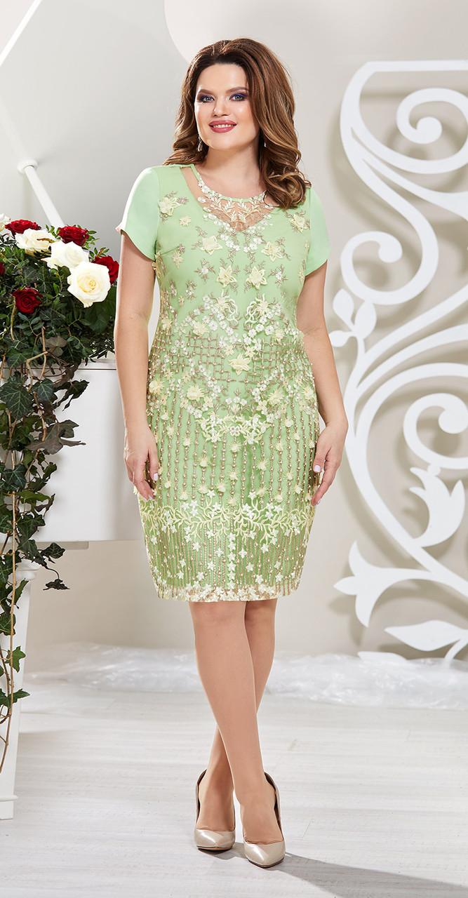 Платье Mira Fashion-4611-2, салатовый, 46