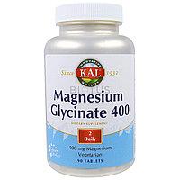 Глицинат магния. 400 мг. в 2 таблетках. 90 таблеток. KAL
