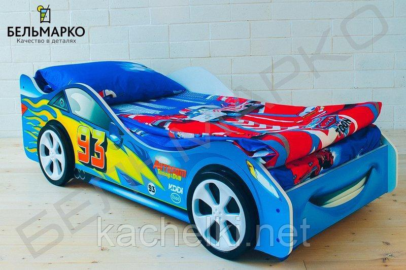 Детская кровать-машина «Тачка синяя»