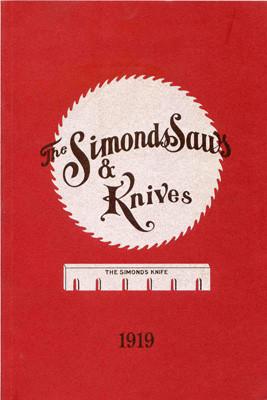 Книга *The Simonds Saws & Knives Catalog No. 19*, репринт,