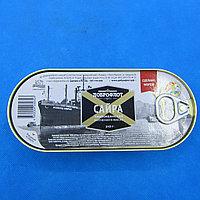 ДОБРОФЛОТ / САЙРА тихоокеанская копченая в масле 210 гр.