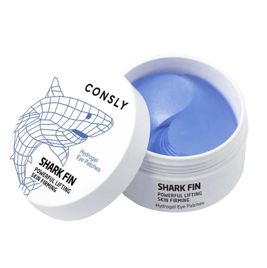 CONSLY Лифтинг Патчи с экстрактом Акульего Плавника Shark Fin Hydrogel Eye Patch  60шт.