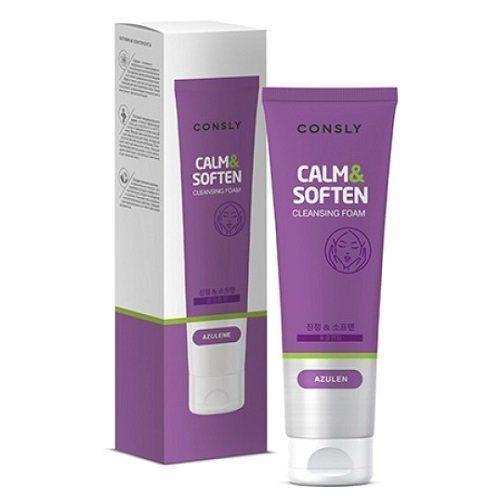 CONSLY Calm & Soften Cleansing Foam Успокаивающая пенка для лица с Азуленом / 120 мл.