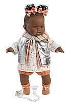 Кукла Llorens Николь афро в серебристом жилете