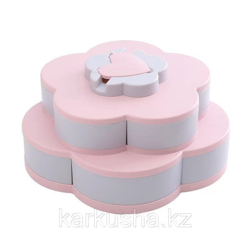 Менажница раздвижная двухъярусная для сладостей или мелочей Цветок