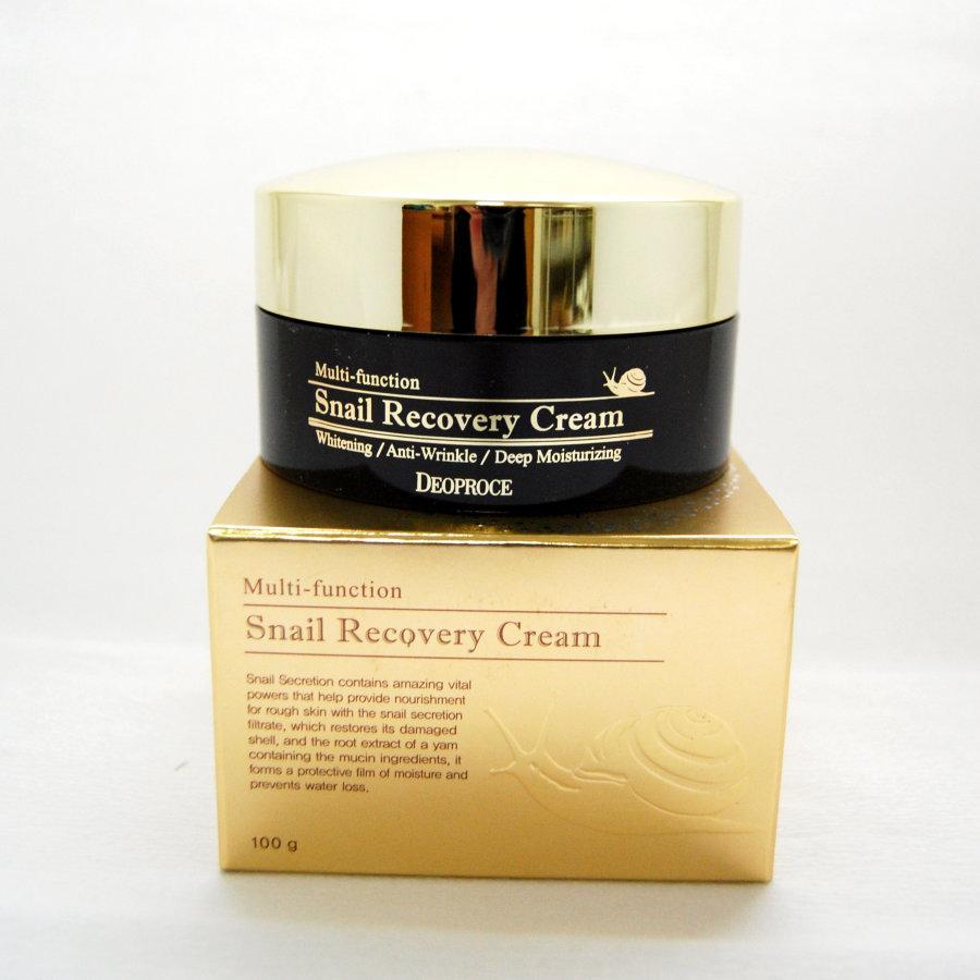 Крем для лица с муцином улитки Deoproce Snail Recovery Cream 100g.