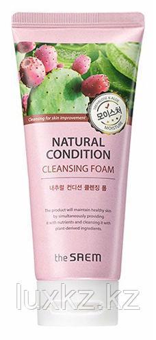 Очищающая и увлажняющая пенка The Saem Natural Condition Cleansing Foam