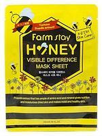Тканевая маска с экстрактом прополиса и медом FarmStay Visible Difference Mask Sheet Honey