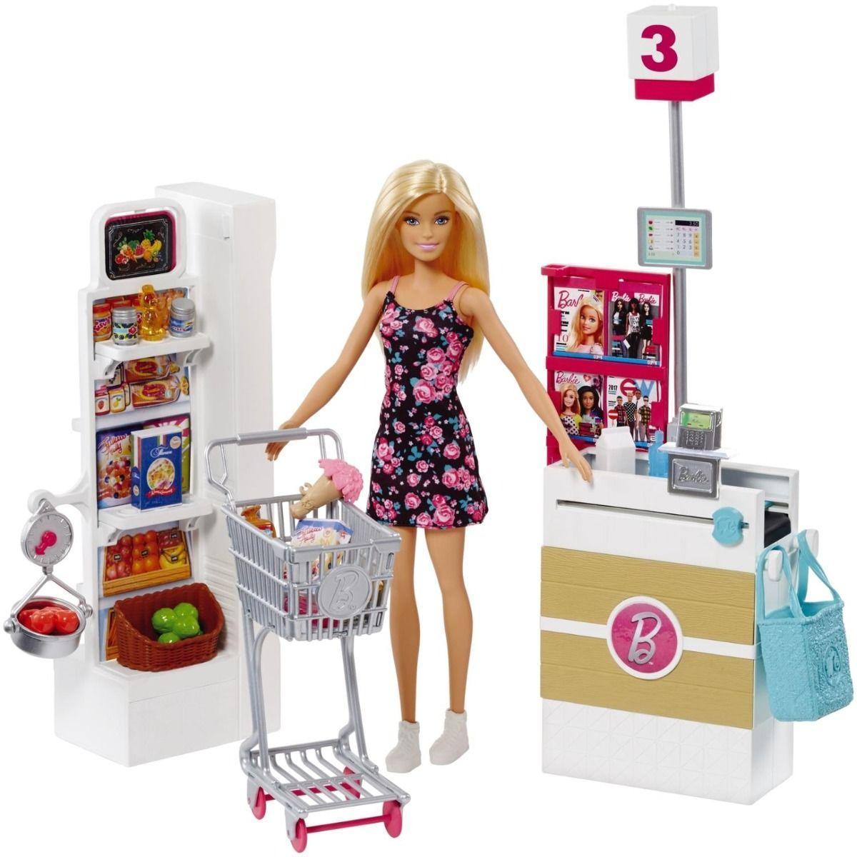 Набор с куклой Barbie Супермаркет - фото 1