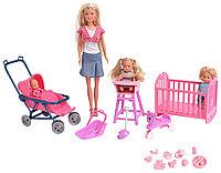 Кукла Simba Штеффи с тремя пупсами, фото 1