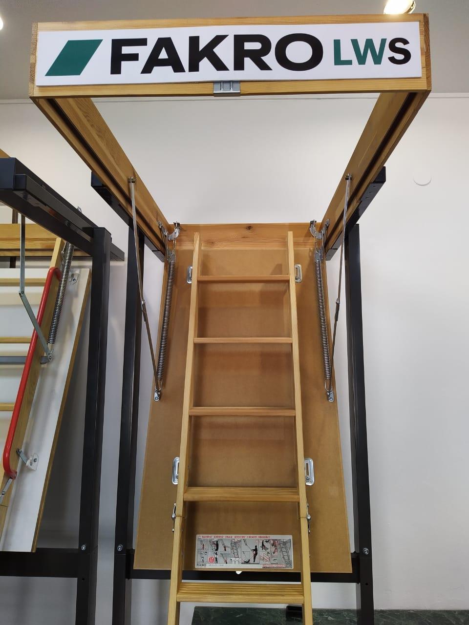 Чердачная лестница  55x111x280  LWS Smart FAKRO (Польша)